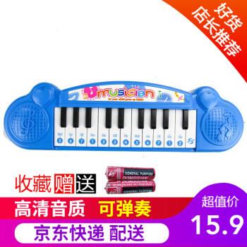 儿童乐器电子琴玩具可弹奏小钢琴宝宝早教音乐弹奏乐器男孩女孩生日礼物 电子琴