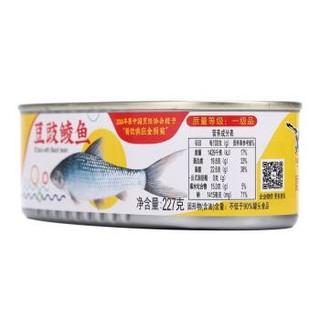 鹰金钱 豆豉鲮鱼罐头 227克/罐 *14件