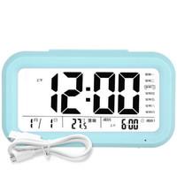 康巴丝(Compas)闹钟智能电子静音夜光聪明灯