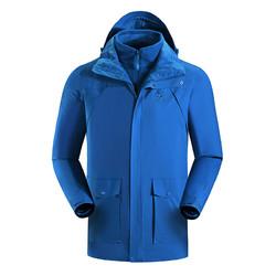 凯乐石秋冬款男士透气耐磨抓绒保暖三合一两件套冲锋衣