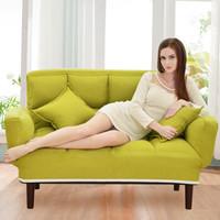 L&S 懒人沙发床 多功能休闲沙发椅卧室客厅单双人沙发床可折叠拆洗 S199果绿色