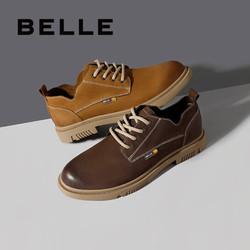 BeLLE 百丽 6WY01AM0 男款工装皮鞋