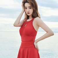 李宁 女士连体裙式游泳衣 +凑单品