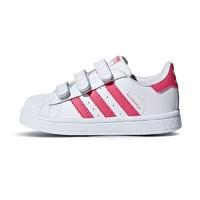 adidas kids 阿迪达斯 女童 三叶草童鞋 CG6638 白/清澈粉/清澈粉 *2件