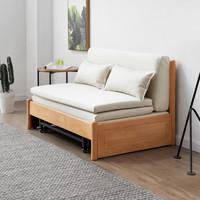 源氏木语 Y98H01 实木可折叠沙发床