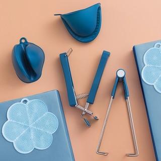 up-hunceo 厨房防烫取碗夹组合 6件套 深蓝色