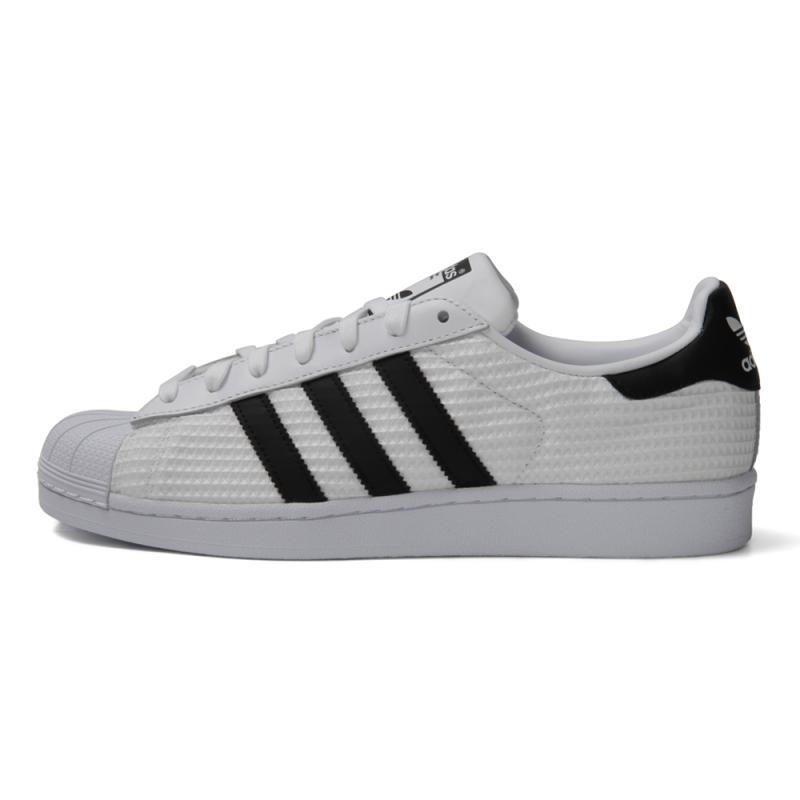 adidas 阿迪达斯 Originals Superstar 中性款运动板鞋 CM8077 白色/黑色 40