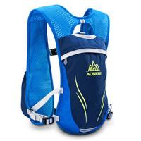 奥尼捷(AONIJIE)越野跑步背包马拉松运动装备水袋包男女户外轻便骑行包双肩包 蓝色5.5L