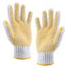 赛拓(SANTO)劳保手套加厚耐磨 涂胶手套防滑点胶棉线手套 工地工作手套 24付装2096