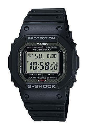 CASIO 卡西欧 G-SHOCK系列太阳能 GW-5000-1JF 男士手表 43mm 灰色 黑色 橡胶