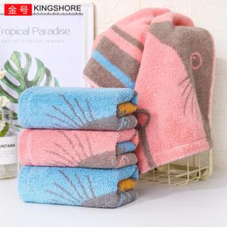 纯棉吸水印花卡通柔软洁面巾擦脸巾 单条装 60*30cm 红色 75g