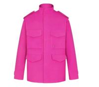 LOUIS VUITTON 路易威登 男士羊毛军装口袋派克大衣1A8AP5 粉色48