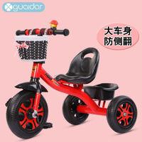 2020儿童三轮车脚踏车 1-3-5岁 小s豪华粉色