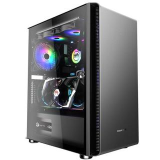 长城(Great Wall)阿基米德KM-3电脑游戏机箱(ATX主板/360水冷/垂直显卡/背线/磁吸玻璃侧透/电源独立仓)