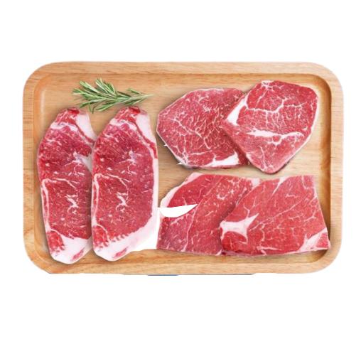 春禾秋牧 澳洲进口 原切牛排套餐 1.02kg/6片