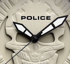 POLICE 叛逆系列 PL.14385JSU 12 男士石英手表 48mm 米色 棕色 牛皮