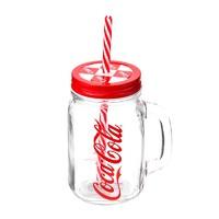 MINISO 名创优品 可口可乐联名带柄吸管玻璃杯 500mL *2件