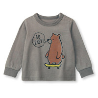 SENSHUKAI 千趣会 男童纯棉长袖圆领T恤 F50140 灰色 80cm