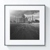 艺术品【PICAPhoto】波兰艺术家托马什·扎切纽克 摄影作品 《大象与长颈鹿》