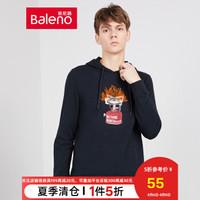 Baleno班尼路 秋季款连帽卫衣男