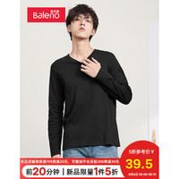 Baleno班尼路 2020秋季新款百搭长袖T恤男