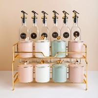 米喜米轻奢调料盒厨房家用调料罐子北欧陶瓷调味罐调料组合套装