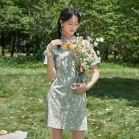3COLOUR 三彩 D025036L20 女士旗袍裙连衣裙