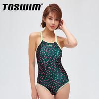 聚划算百亿补贴 : TOSWIM 拓胜 TS610001 女款连体泳衣
