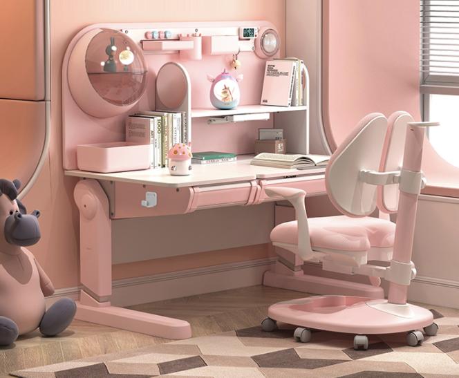 HbadaStudy time 黑白调学习时光  HZH035099PM 儿童桌椅套装  星空款