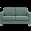 8H B1 独立袋装弹簧布艺沙发 远山绿 双人