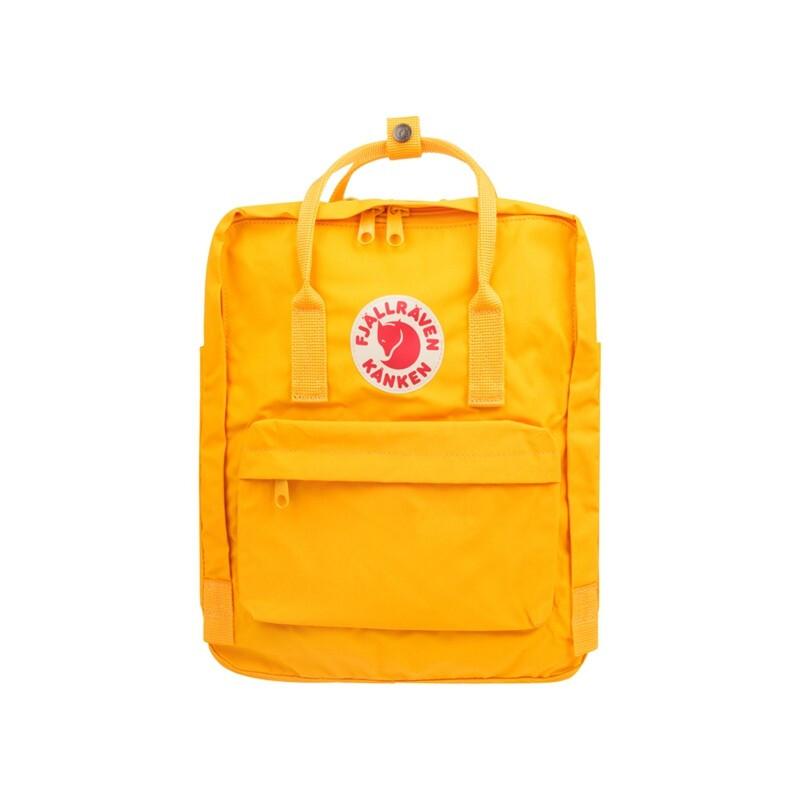 FJÄLLRÄVEN 北极狐 女士编织拉链双肩包F23510-141 暖黄