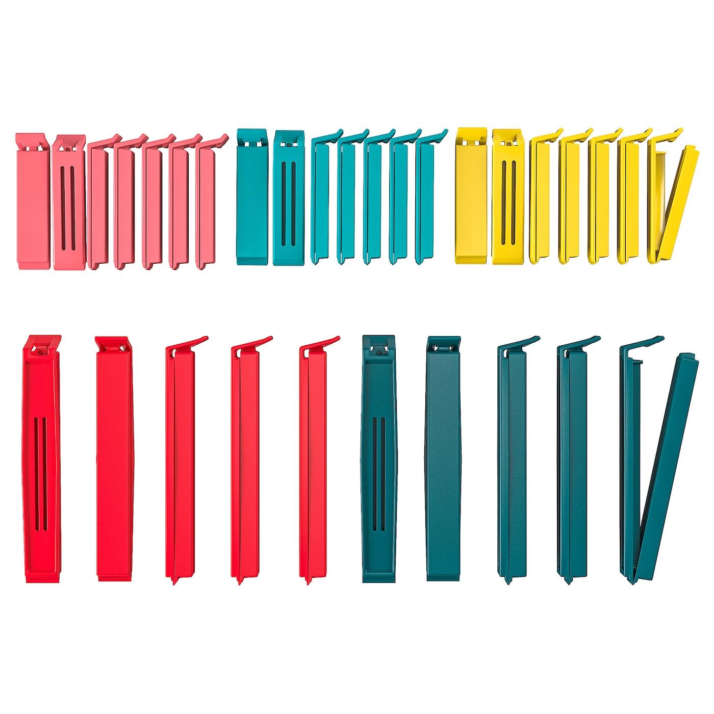 IKEA 宜家 903.391.72 贝瓦拉封口夹套装 30件套 多色混合尺寸