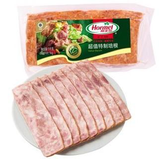 荷美尔(Hormel)超值特制培根1000g/袋 冷冻食品 培根片 *3件