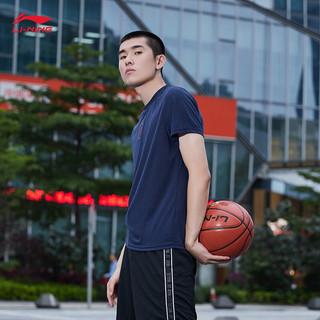 LI-NING 李宁 男款短袖T恤 ATSL055 墨水蓝 S