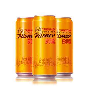 TSINGTAO 青岛啤酒  皮尔森啤酒  500ML*12罐 *3件