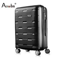 欧盟品牌Aowbs拉杆箱20寸商务男女超轻PP行李箱时尚大容量24寸