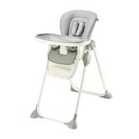 gb好孩子儿童餐椅 多功能可折叠便携婴儿餐椅可坐可躺宝宝餐椅(7个月-36个月)灰色 Y9806-D007G