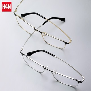 HAN 汉 纯钛商务近视眼镜框架+1.60非球面防蓝光镜片