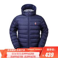 BLACKICE/黑冰 户外男款F8102防水舒适保暖600蓬鹅绒带帽轻薄羽绒服 蓝色 M