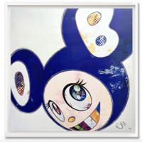 村上隆正版版画DOB限量300版 手工装裱 艺术家亲笔签名版50×50cm