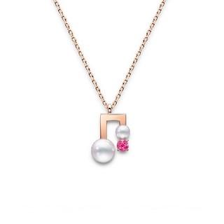 TASAKI 塔思琦 平衡音符系列 p-16946-39 女士18K樱花金音符项链 43cm