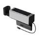 BASEUS 倍思 汽车座椅储物盒 可伸缩杯架+双USB充电口 62.1元包邮