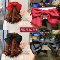 GENGXI 红色大蝴蝶结发夹 2件套