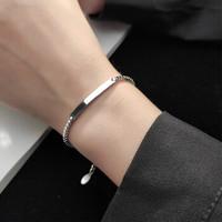 鑫洛莎 S925纯银弧形手链