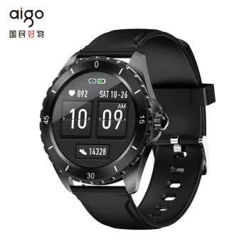 爱国者 aigo FW06 石墨黑 智能手表 运动户外手表(心率血压监测 健康腕表 全屏触控 48g轻薄款)