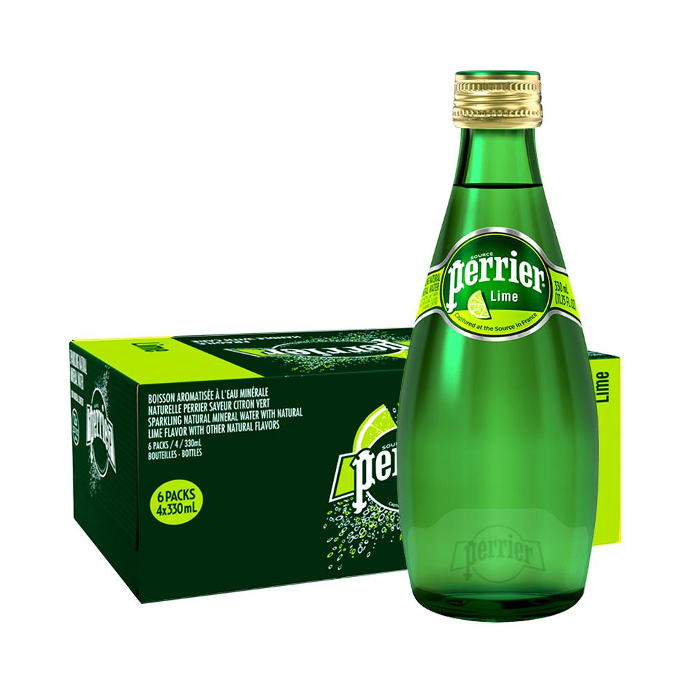 88VIP : Perrier 巴黎水 青柠味饮料含气天然矿泉水 330ml*24/箱