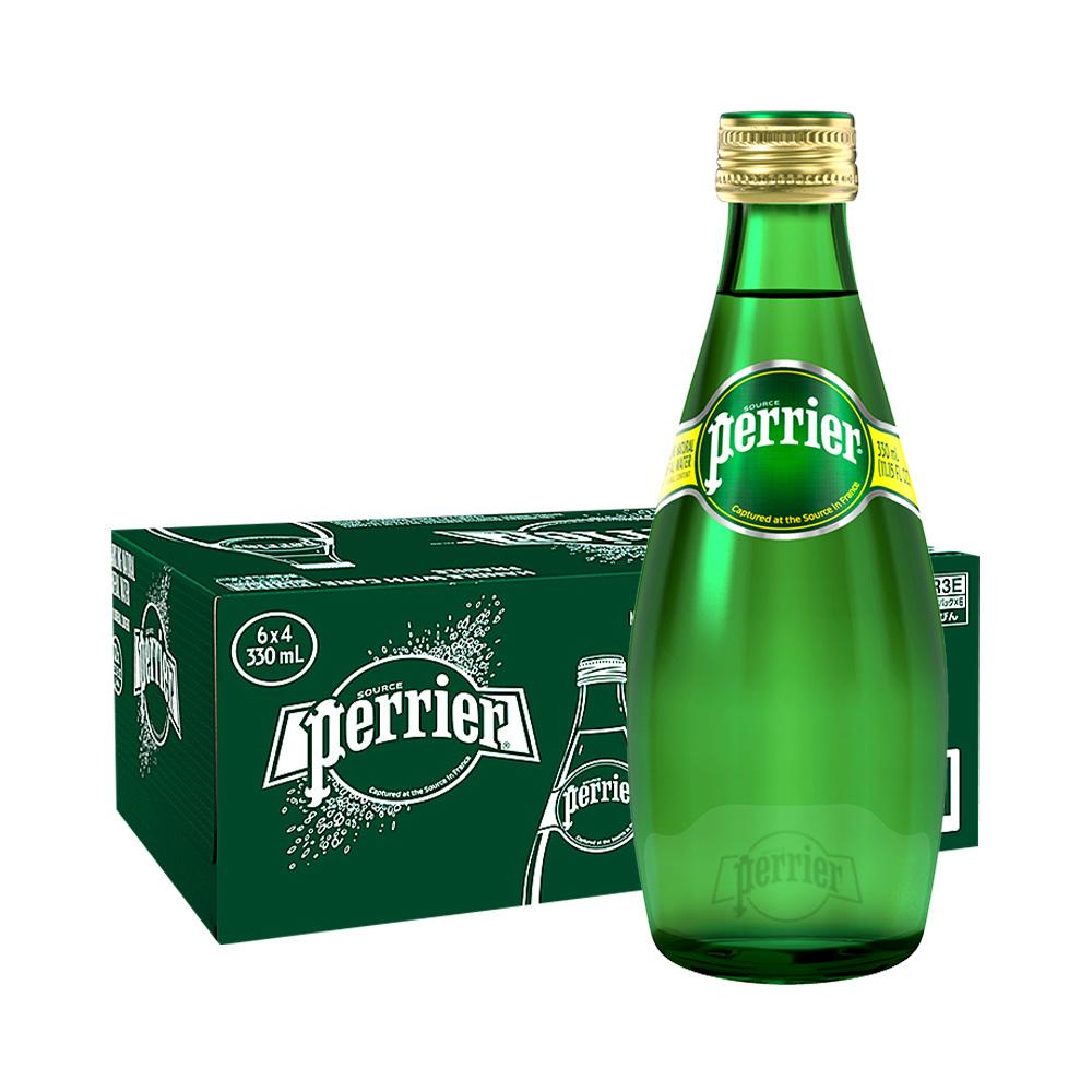 88VIP : Perrier 巴黎水 原味含气天然矿泉水 330ML*24瓶 *2件