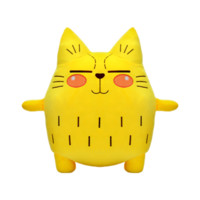 OTWO 可爱布玩偶 45cm猫(3D棉)+凑单品