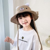 卡卡百分百 儿童萌趣遮阳渔夫帽 蓝色