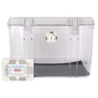锐玛(EIRMAI) R20 单反相机防潮箱 镜头收纳箱 相机干燥箱 大号,送大号吸湿卡 炫灰色